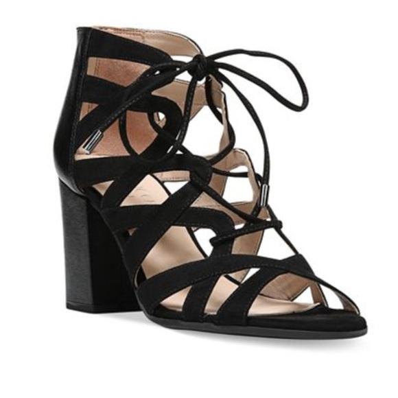 05836054ce33 Franco Sarto Meena Block Heel Sandal Lace Up